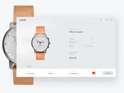 #002 Cart page design UI challange webshop watch checkout creditcard visa shopping ecommerce cart