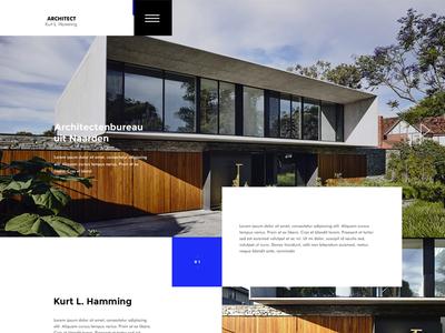 Minimalistic webdesign Architect landing home webdesign minimal minimalistic architect