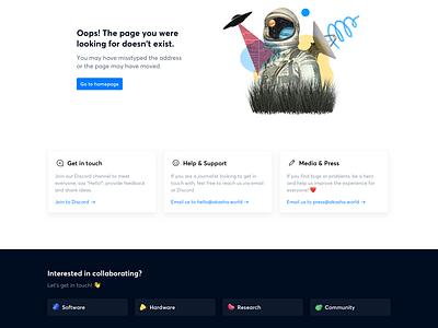 Akasha Website — Page not found cards decentralized ethereum significa akasha 404 not found ux ui website illustration