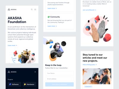 Akasha Website — Mobile