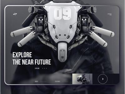 Game Website concept film interface design interface web ui design future web design movie game website ux ui design