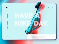 Nike promo page design concept