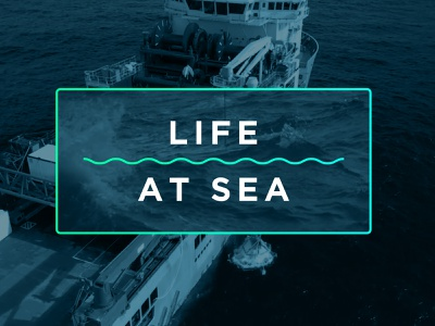 Video Art Direction - Life At Sea motion design motion treatment video sea ocean boat adobe vector illustrator illustration branding portland design