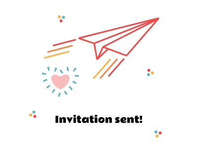 Invitation Confirmation confirmation invite invitation mailbox heart paper plane plane mail adobe vector illustrator branding illustration design portland