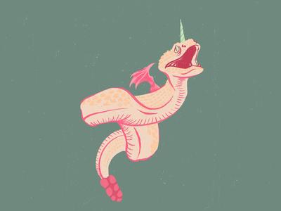 "Flying Snake ""Creature"" - Editorial Illustration"