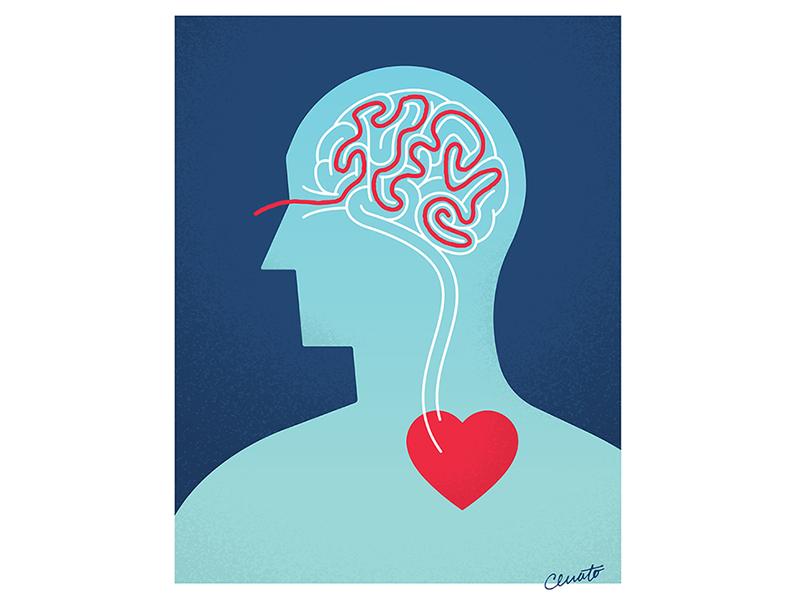 Overthinking illustrator mind maze brain feel heart art illustration overthinking