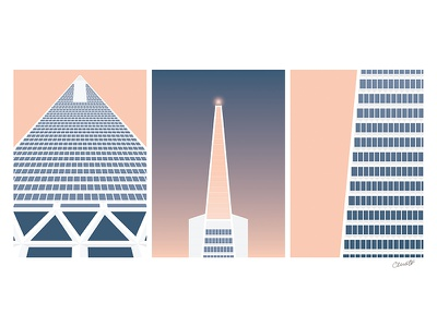 Transamerica Pyramid, San Francisco transamerica pyramid skyscraper california sf building architecture illustration vector san francisco
