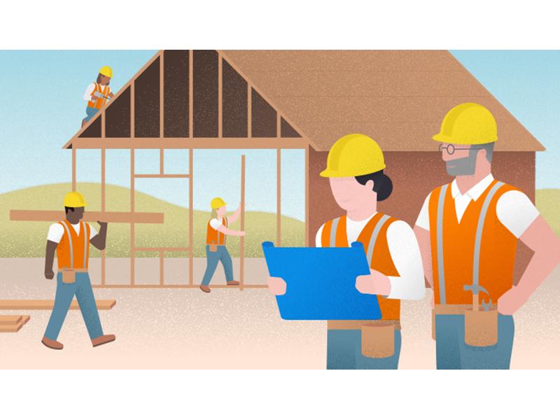 Diversity in Construction (Autodesk) illustrator vector editorial illustration editorial construction diversity autodesk illustration