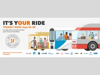 San Francisco Transit Riders Chris Cerrato Illustration