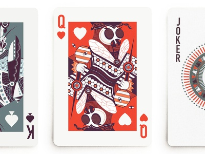 Queen Bee queen of hearts cards playing cards queen bee bee queen design illustration