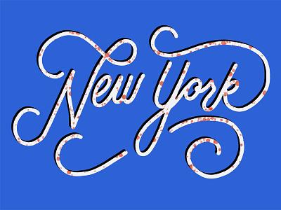 Newyork procreate ipad pro calligraphy handlettering illustration redwhiteandblue