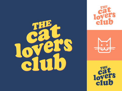 The Cat Lovers Club typography type hand lettering retro font vintage retro clothing calligraphy logo cats animal vector