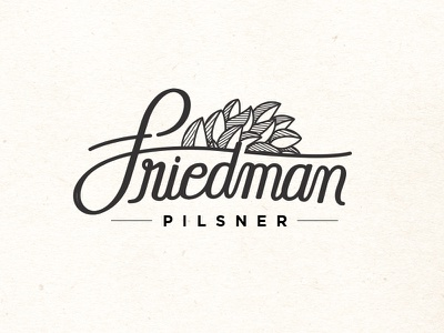 Friedman Pilsner typography type brewery libertarian economics milton friedman beer capitalist