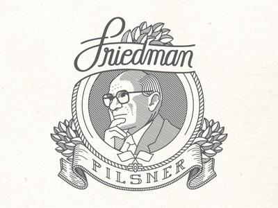 Friedman Pilsner Beer Label