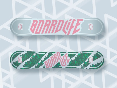 BoardLife Snowboard Design trees mountains thick lines vector photoshop illustrator snowboard