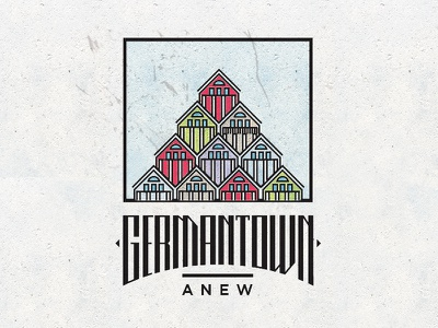 Germantown Anew Poster photoshop illustrator vector houses nashville tennessee custom type typography germantown