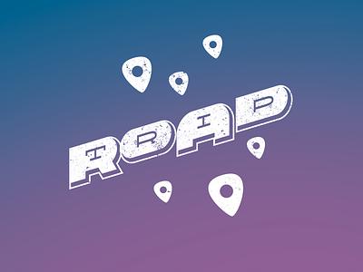 Roadtrip gradient illustrator vector custom typography grunge roadtrip road trip
