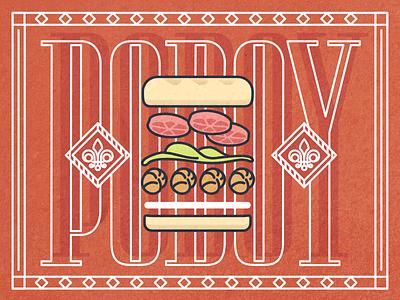 Po'Boyz All Day type vector cajun new orleans po boy poboy