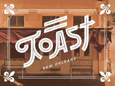 Toast New Orleans lettering type illustrator vector tourism food nola new orleans toast