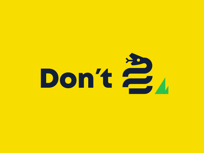 Don't Tread dirty nasty yellow snake logomark flag gadsden