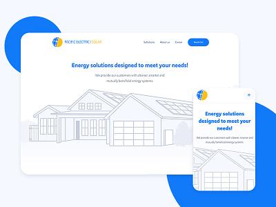 Pacific Solar desktop ui ux energy solar panels solar webdesign website mobile