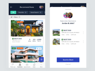 Home Recommendation challenge uxdesign mobile app real estate