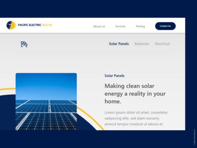Pasific Electric Solar Website concept