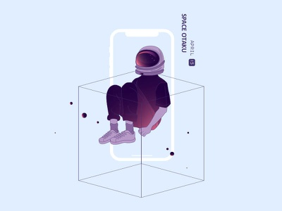 Space Otaku illustration icon otaku space