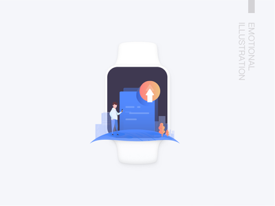 Emotional Illustration 2 5 upload load detection animation icon people ui illustration