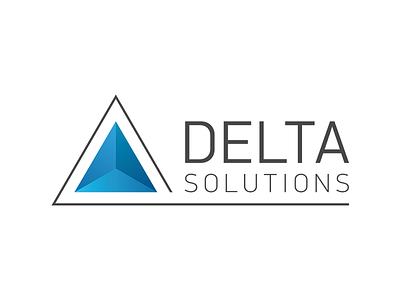 Delta Solution Logo logo mark branding delta solutions