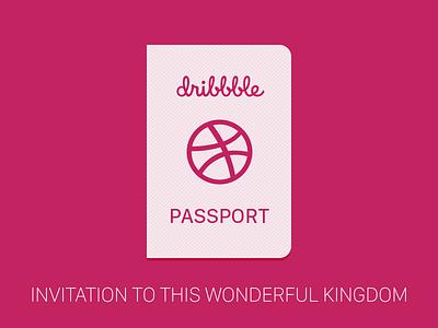 Dribbble invite passport prospects invite invitation dribbble