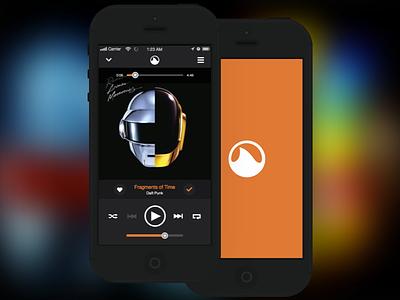 Grooveshark iOS grooveshark ios8 flat minimal