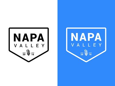 Napa Badge minimal grapes napa badge flat