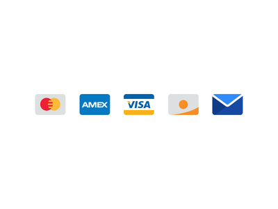Forms of Payment email amex visa payment icons cards credit flat travelbank