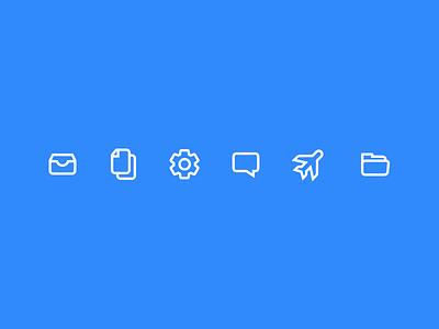 Menu Icons  android ios travel settings plane outline navigation nav menu inbox icons folders