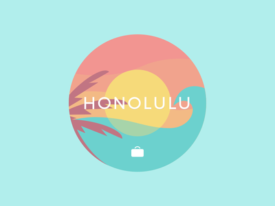 Honolulu wave water tropical travelbank sunset ocean honolulu hawaiian hawaii flat beach aloha