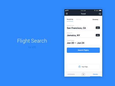 Flight Search expenses form travel business flights search ui travelbank