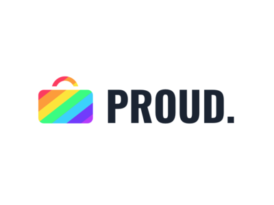 Proud proud suitcase rainbow expense business travel travelbank pride gay