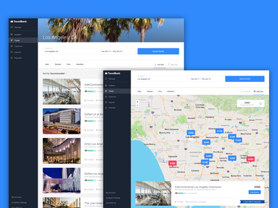 Web Hotels Map ui search results business booking hotel map travelbank travel