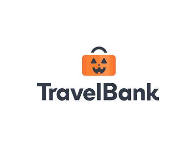 TravelBank Halloween jackolantern pumpkin travelbank spooky halloween logo business travel