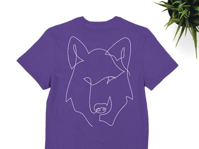 One line Wolf frightgore frajtgorski animal wolf modern minimal minimalist one line