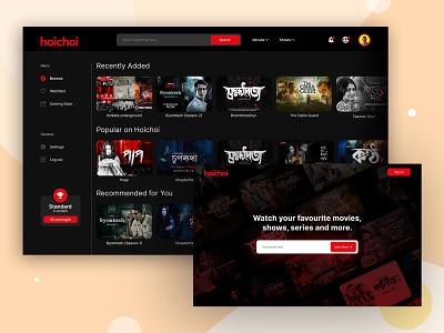 Video Streaming Platform landing page website design website concept website online service video streaming concepts ui  ux design uidesign uiux ux ui