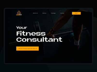 Amifit Fitness Consultant Landing Page design ui website website design uidesign uiux landing page