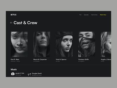 Program based 'custom Netflix' 🎬 📺 dark theme clean sanal ueno website web app web design uivisual design ux cx personalization custom netflix series based show based netflix