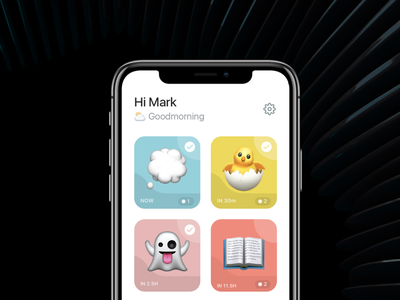 To-do app for iPhone notmoji or iphone f iphone app ux from scratch uiux evernote todoist notes rich note tool productivity productivity app widget ios app product design day planning note taking to-do
