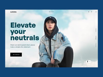 Custom Fashion Store landing page web design clean full page visuals banner uiux influencer influencer based fashion store trending collection shopify template custom fashion store ecommerce website store fashion