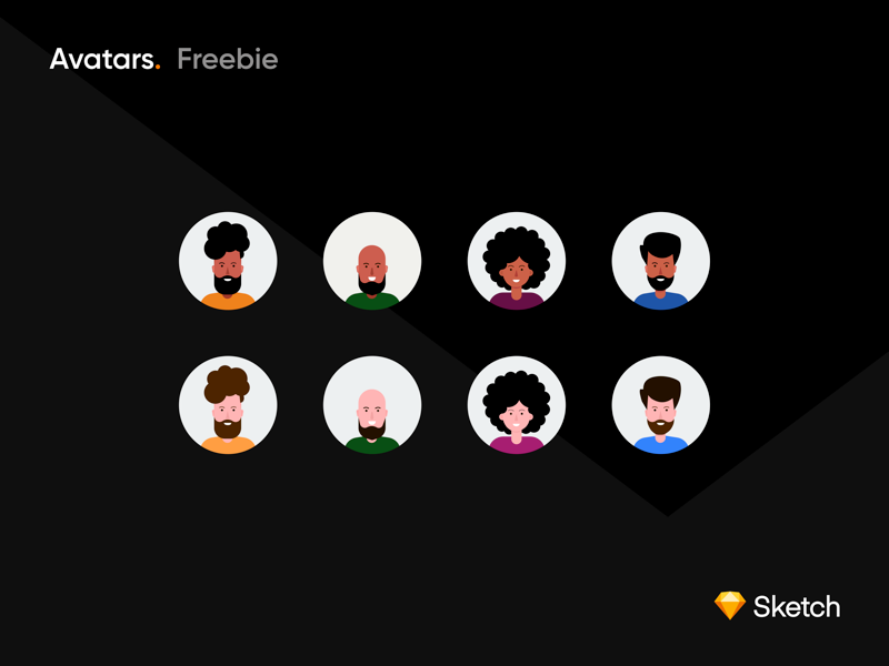 Avatars-Freebie 🎉 by Sanal Ck on Dribbble