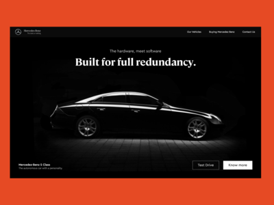 The mercedez benz landing page