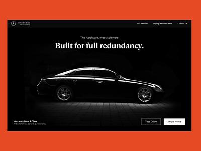 The mercedez benz landing page sanal car website landing page landing page design autonomous car autonomous mercedes-benz ux ui