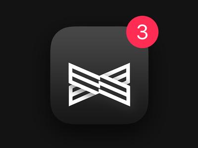 Gentlemen Club App Icon gentlemen club luxury app icon bw black white bowtie strap